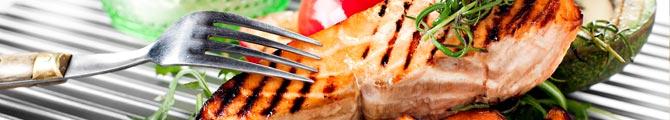 Sweet lax med grillad avokado
